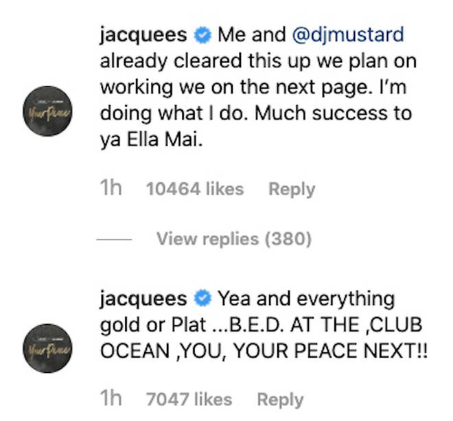 Jacquees Claps Back At Ella Mai Over Unexpectedly Shady Tweet